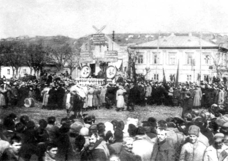 Революційний мітинг у Бердянську